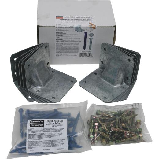 Simpson Strong Tie Gusset Angle Hurricane Tie Kit for Masonry with Titan Screws (10 Piece)