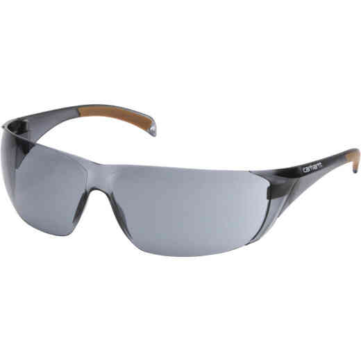 Carhartt Billings Gray Temple Safety Glasses with Gray Lenses