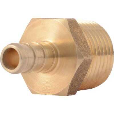 SharkBite 3/8 In. CF x 1/2 In. MPT Brass PEX Adapter