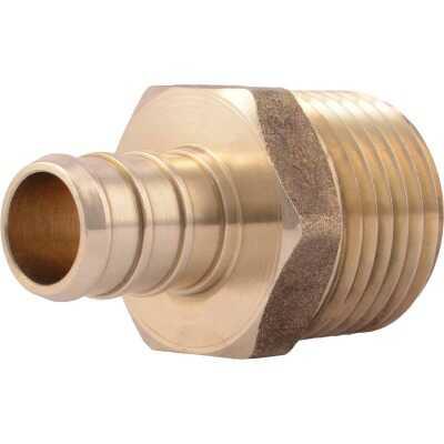 SharkBite 1/2 In. CF x 1/2 In. MPT Brass PEX Adapter
