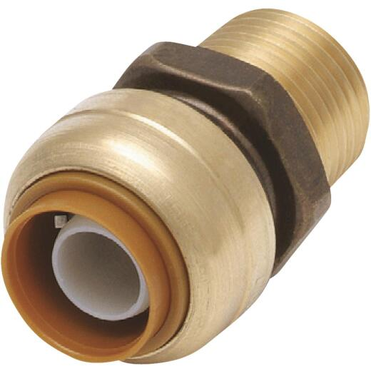 SharkBite 1/2 In. x 1/2 In. MNPT Straight Brass Push-to-Connect Male Adapter