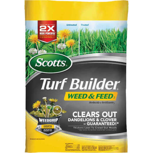 Scotts Turf Builder Weed & Feed 43.07 Lb. 15,000 Sq. Ft. 28-0-3 Lawn Fertilizer with Weed Killer