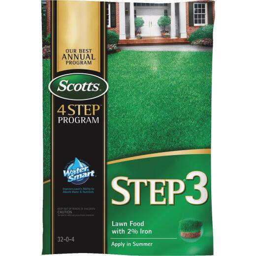Scotts 4-Step Program Step 3 12.60 Lb. 5000 Sq. Ft. 32-0-4 Lawn Fertilizer with 2% Iron