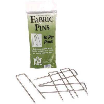 Master Gardner Steel 4.5 In. Landscape Fabric Pins (10-Pack)